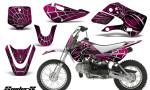 Kawasaki KLX110 KX65 CreatorX Graphics Kit SpiderX Pink 150x90 - Kawasaki KLX110 2002-2009 Graphics
