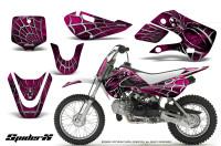 Kawasaki-KLX110-KX65-CreatorX-Graphics-Kit-SpiderX-Pink