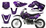 Kawasaki KLX110 KX65 CreatorX Graphics Kit SpiderX Purple 150x90 - Kawasaki KLX110 2002-2009 Graphics