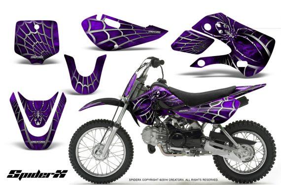 Kawasaki KLX110 KX65 CreatorX Graphics Kit SpiderX Purple 570x376 - Kawasaki KLX110 2002-2009 Graphics
