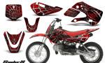 Kawasaki KLX110 KX65 CreatorX Graphics Kit SpiderX Red 150x90 - Kawasaki KLX110 2002-2009 Graphics