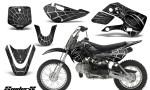 Kawasaki KLX110 KX65 CreatorX Graphics Kit SpiderX Silver 150x90 - Kawasaki KLX110 2002-2009 Graphics
