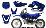 Kawasaki KLX110 KX65 CreatorX Graphics Kit Tribal Madness Blue 150x90 - Kawasaki KLX110 2002-2009 Graphics