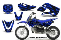Kawasaki-KLX110-KX65-CreatorX-Graphics-Kit-Tribal-Madness-Blue