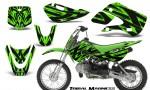 Kawasaki KLX110 KX65 CreatorX Graphics Kit Tribal Madness Green 150x90 - Kawasaki KLX110 2002-2009 Graphics