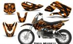 Kawasaki KLX110 KX65 CreatorX Graphics Kit Tribal Madness Orange 150x90 - Kawasaki KLX110 2002-2009 Graphics