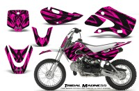 Kawasaki-KLX110-KX65-CreatorX-Graphics-Kit-Tribal-Madness-Pink
