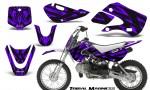 Kawasaki KLX110 KX65 CreatorX Graphics Kit Tribal Madness Purple 150x90 - Kawasaki KLX110 2002-2009 Graphics
