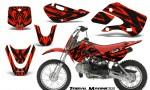 Kawasaki KLX110 KX65 CreatorX Graphics Kit Tribal Madness Red 150x90 - Kawasaki KLX110 2002-2009 Graphics