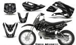 Kawasaki KLX110 KX65 CreatorX Graphics Kit Tribal Madness Silver 150x90 - Kawasaki KLX110 2002-2009 Graphics