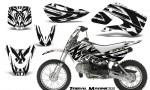 Kawasaki KLX110 KX65 CreatorX Graphics Kit Tribal Madness White 150x90 - Kawasaki KLX110 2002-2009 Graphics