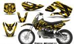 Kawasaki KLX110 KX65 CreatorX Graphics Kit Tribal Madness Yellow BB 150x90 - Kawasaki KLX110 2002-2009 Graphics