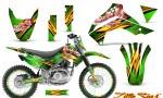 Kawasaki KLX140 08 14 CreatorX Graphics Kit Little Sins Green NP Rims 150x90 - Kawasaki KLX140 2008-2017 Graphics