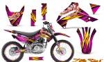 Kawasaki KLX140 08 14 CreatorX Graphics Kit Little Sins Pink NP Rims 150x90 - Kawasaki KLX140 2008-2017 Graphics