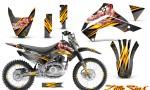 Kawasaki KLX140 08 14 CreatorX Graphics Kit Little Sins Silver NP Rims 150x90 - Kawasaki KLX140 2008-2017 Graphics