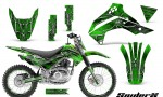 Kawasaki KLX140 08 14 CreatorX Graphics Kit SpiderX Green NP Rims 150x90 - Kawasaki KLX140 2008-2017 Graphics