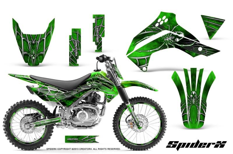 Kawasaki Klx140 08 14 Creatorx Graphics Kit Spiderx