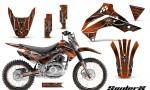 Kawasaki KLX140 08 14 CreatorX Graphics Kit SpiderX OrangeDark NP Rims 150x90 - Kawasaki KLX140 2008-2017 Graphics