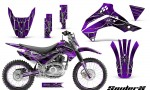 Kawasaki KLX140 08 14 CreatorX Graphics Kit SpiderX Purple NP Rims 150x90 - Kawasaki KLX140 2008-2017 Graphics