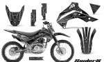 Kawasaki KLX140 08 14 CreatorX Graphics Kit SpiderX Silver NP Rims 150x90 - Kawasaki KLX140 2008-2017 Graphics