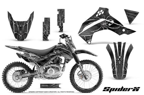 Kawasaki KLX140 08 14 CreatorX Graphics Kit SpiderX Silver NP Rims 570x376 - Kawasaki KLX140 2008-2017 Graphics