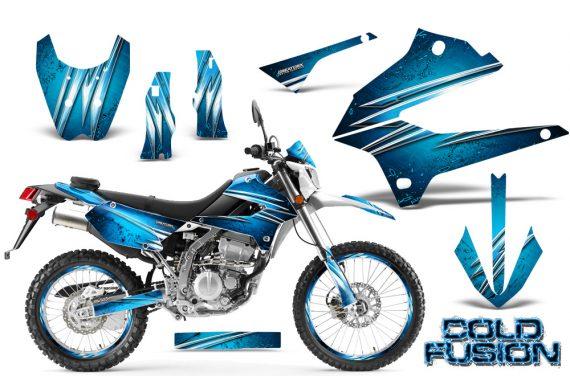 Kawasaki KLX250 08 13 DTRACK CreatorX Graphics Kit Cold Fusion BlueIce NP Rims 570x376 - Kawasaki KLX250 2008-2018 Graphics