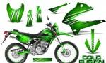 Kawasaki KLX250 08 13 DTRACK CreatorX Graphics Kit Cold Fusion Green NP Rims 150x90 - Kawasaki KLX250 2008-2018 Graphics
