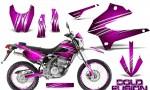 Kawasaki KLX250 08 13 DTRACK CreatorX Graphics Kit Cold Fusion Pink NP Rims 150x90 - Kawasaki KLX250 2008-2018 Graphics
