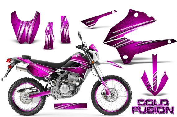 Kawasaki KLX250 08 13 DTRACK CreatorX Graphics Kit Cold Fusion Pink NP Rims 570x376 - Kawasaki KLX250 2008-2018 Graphics