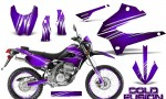 Kawasaki KLX250 08 13 DTRACK CreatorX Graphics Kit Cold Fusion Purple NP Rims 150x90 - Kawasaki KLX250 2008-2018 Graphics