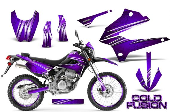 Kawasaki KLX250 08 13 DTRACK CreatorX Graphics Kit Cold Fusion Purple NP Rims 570x376 - Kawasaki KLX250 2008-2018 Graphics