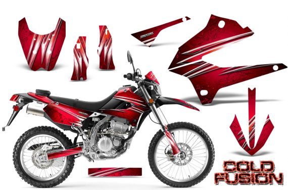 Kawasaki KLX250 08 13 DTRACK CreatorX Graphics Kit Cold Fusion Red BB NP 570x376 - Kawasaki KLX250 2008-2018 Graphics