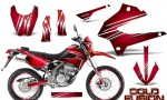 Kawasaki KLX250 08 13 DTRACK CreatorX Graphics Kit Cold Fusion Red NP Rims 150x90 - Kawasaki KLX250 2008-2018 Graphics