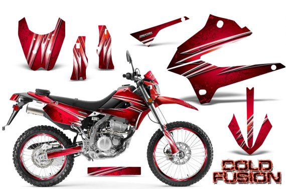 Kawasaki KLX250 08 13 DTRACK CreatorX Graphics Kit Cold Fusion Red NP Rims 570x376 - Kawasaki KLX250 2008-2018 Graphics