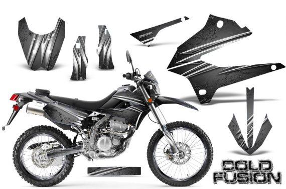 Kawasaki KLX250 08 13 DTRACK CreatorX Graphics Kit Cold Fusion Silver NP Rims 570x376 - Kawasaki KLX250 2008-2018 Graphics