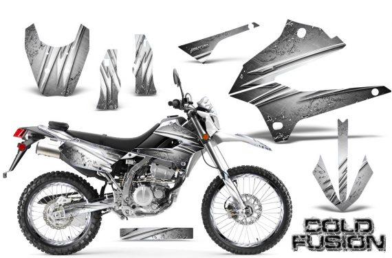 Kawasaki KLX250 08 13 DTRACK CreatorX Graphics Kit Cold Fusion White NP Rims 570x376 - Kawasaki KLX250 2008-2018 Graphics