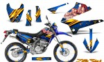 Kawasaki KLX250 08 13 DTRACK CreatorX Graphics Kit Little Sins Blue NP Rims 150x90 - Kawasaki KLX250 2008-2018 Graphics