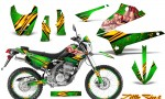 Kawasaki KLX250 08 13 DTRACK CreatorX Graphics Kit Little Sins Green NP Rims 150x90 - Kawasaki KLX250 2008-2018 Graphics
