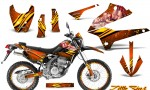 Kawasaki KLX250 08 13 DTRACK CreatorX Graphics Kit Little Sins Orange NP Rims 150x90 - Kawasaki KLX250 2008-2018 Graphics