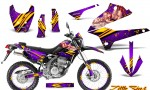 Kawasaki KLX250 08 13 DTRACK CreatorX Graphics Kit Little Sins Purple NP Rims 150x90 - Kawasaki KLX250 2008-2018 Graphics