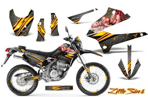 Kawasaki KLX250 08 13 DTRACK CreatorX Graphics Kit Little Sins Silver NP Rims 570x376 - Kawasaki KLX250 2008-2018 Graphics