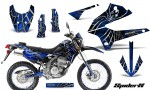 Kawasaki KLX250 08 13 DTRACK CreatorX Graphics Kit SpiderX Blue NP Rims 150x90 - Kawasaki KLX250 2008-2018 Graphics