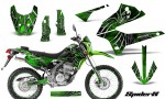 Kawasaki KLX250 08 13 DTRACK CreatorX Graphics Kit SpiderX Green NP Rims 150x90 - Kawasaki KLX250 2008-2018 Graphics