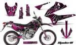 Kawasaki KLX250 08 13 DTRACK CreatorX Graphics Kit SpiderX Pink NP Rims 150x90 - Kawasaki KLX250 2008-2018 Graphics