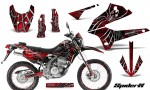 Kawasaki KLX250 08 13 DTRACK CreatorX Graphics Kit SpiderX Red NP Rims 150x90 - Kawasaki KLX250 2008-2018 Graphics