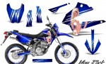 Kawasaki KLX250 08 13 DTRACK CreatorX Graphics Kit You Rock Blue NP Rims 150x90 - Kawasaki KLX250 2008-2018 Graphics