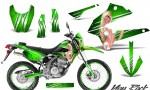 Kawasaki KLX250 08 13 DTRACK CreatorX Graphics Kit You Rock Green NP Rims 150x90 - Kawasaki KLX250 2008-2018 Graphics