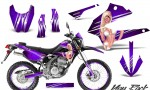 Kawasaki KLX250 08 13 DTRACK CreatorX Graphics Kit You Rock Purple NP Rims 150x90 - Kawasaki KLX250 2008-2018 Graphics