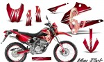 Kawasaki KLX250 08 13 DTRACK CreatorX Graphics Kit You Rock Red NP Rims 150x90 - Kawasaki KLX250 2008-2018 Graphics