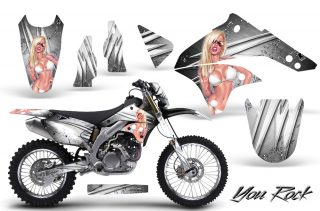 Kawasaki KLX450 CreatorX Graphics Kit 08 12 You Rock White NP Rims 320x211 - Kawasaki KLX450 2008-2013 Graphics